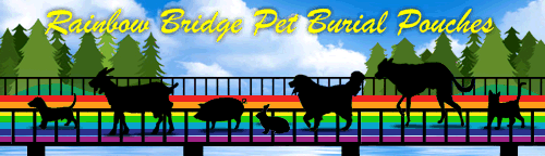 Rainbow Bridge Pet Burial Pouches